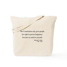 Benjamin Franklin 5 Tote Bag