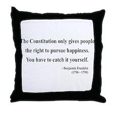 Benjamin Franklin 5 Throw Pillow
