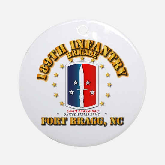 189th Infantry Brigade Round Ornament