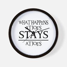STAYS AT JOE'S Wall Clock