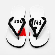 I Love Philippines Flip Flops