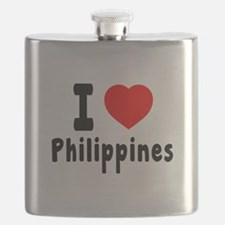I Love Philippines Flask