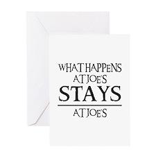 STAYS AT JOE'S Greeting Card