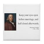 Benjamin Franklin 6 Tile Coaster