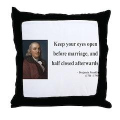Benjamin Franklin 6 Throw Pillow