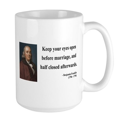 Benjamin Franklin 6 Large Mug