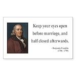 Benjamin Franklin 6 Rectangle Sticker