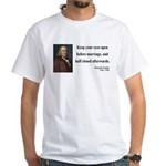 Benjamin Franklin 6 White T-Shirt