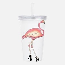 Flamingo Acrylic Double-wall Tumbler