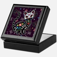 Dia de los Gatos Pattern Keepsake Box