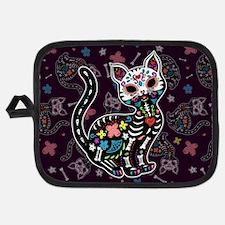 Dia de los Gatos Pattern Potholder