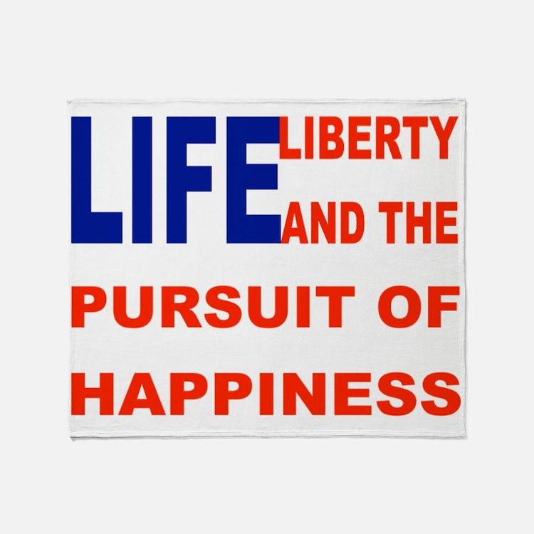 Happiness Flag Throw Blanket