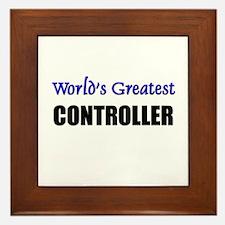 Worlds Greatest CONTROLLER Framed Tile