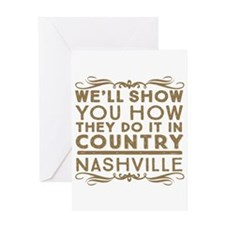 Nashville How We Do It In Country Greeting Cards