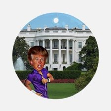 president donald trump Round Ornament
