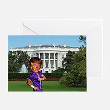 president donald trump Greeting Card