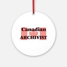 Canadian Archivist Round Ornament