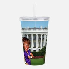 president donald trump Acrylic Double-wall Tumbler