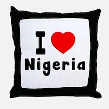 I Love Nigeria Throw Pillow
