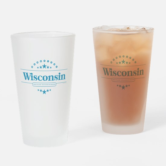 Unique Wisconsin Drinking Glass