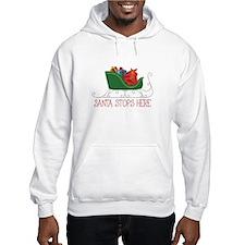 Santa Stops Here Hoodie