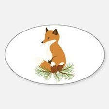 Pine Cone Fox Decal
