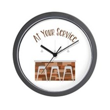At Your Service Wall Clock