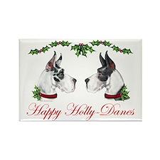 Great Dane HollyDanes HQ MT Rectangle Magnet