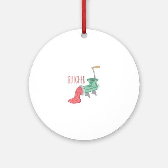 Butcher Grinder Round Ornament