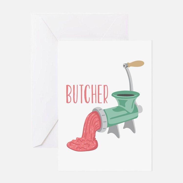 Butcher Grinder Greeting Cards
