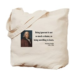 Benjamin Franklin 9 Tote Bag