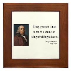 Benjamin Franklin 9 Framed Tile