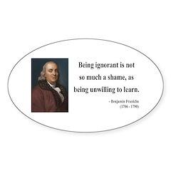 Benjamin Franklin 9 Oval Decal