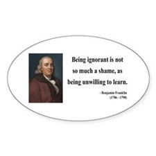 Benjamin Franklin 9 Oval Decal