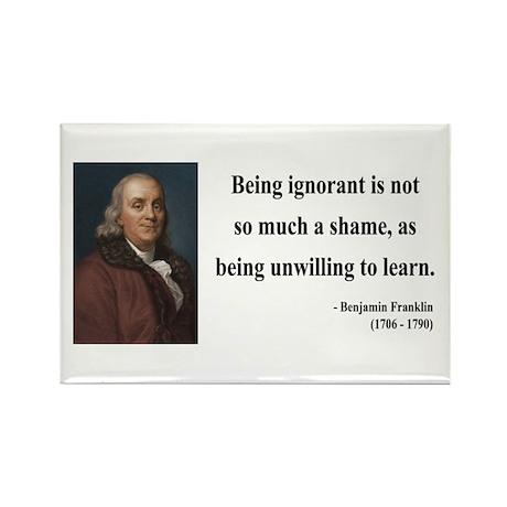 Benjamin Franklin 9 Rectangle Magnet