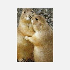 Prairie Dog Kiss Rectangle Magnet Magnets