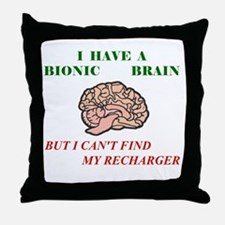 Bionic Brain Throw Pillow