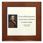 Benjamin Franklin 10 Framed Tile