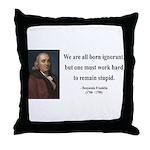 Benjamin Franklin 10 Throw Pillow