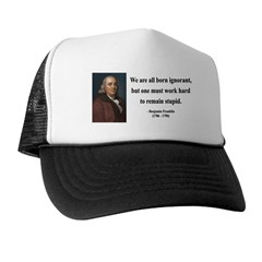 Benjamin Franklin 10 Trucker Hat