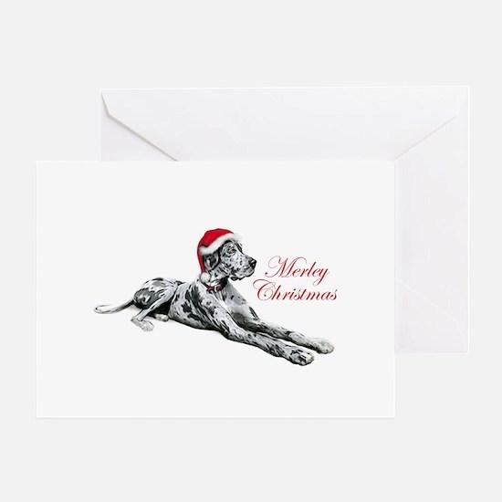 Great Dane Merley Xmas UC Greeting Card