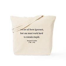 Benjamin Franklin 10 Tote Bag