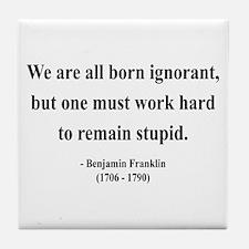 Benjamin Franklin 10 Tile Coaster