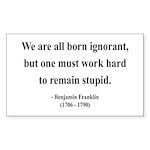 Benjamin Franklin 10 Rectangle Sticker
