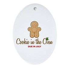 Cookie Due July Oval Ornament