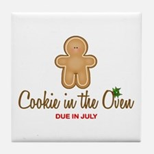 Cookie Due July Tile Coaster