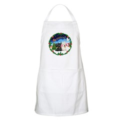 Santa's Take Off (2) = 2 Scotties BBQ Apron