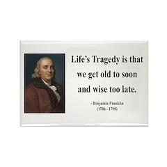 Benjamin Franklin 11 Rectangle Magnet