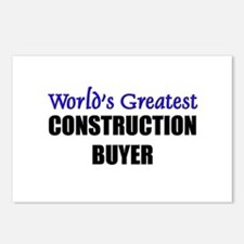 Worlds Greatest CONSTRUCTION BUYER Postcards (Pack