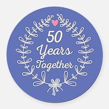 35th Anniversary Round Car Magnet